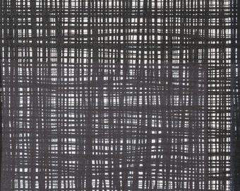 Ghastlie Weave - Alexander Henry Fabric - Coordinate to Ghastlie  - 8593 A Black & White - Priced by the 1/2 yd