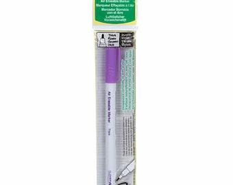 Air Erasable Marker  - choose point size - Purple - Clover # 5031 5032 5030 - Dritz 701 - Dritz 677