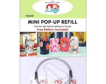 Mini Pop Up Refill - Pop Can Size - Scrap Basket - Joanne Hillestad FQG 131 - DIY Project - Pattern & Mini Pop Up Included