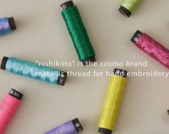 Lecien Opali or Neoni - Nishikiito embroidery thread - handwork only - 20m spool (21.9 yards) - choose color