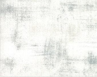 Grunge Basics Fabric by Basic Grey for Moda Fabrics 30150 435 White Gray - Metropolis Fog - Priced by the Half yard
