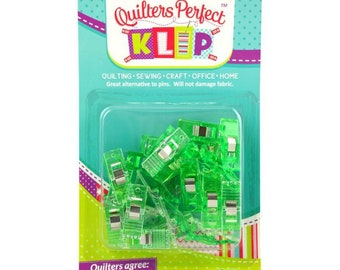 Fabric Clips, Binding Clips, Art Clips - Perfect Klip - Mini Me Klip It Simple Seam - 25-ct bag, small clips - Choose Color Pack