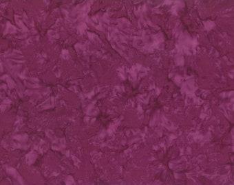 Solid Batik Fabric - Wilmington Rock Candy Batik - Washed Solid -  2678 663 Magenta Purple - Priced by the half yard
