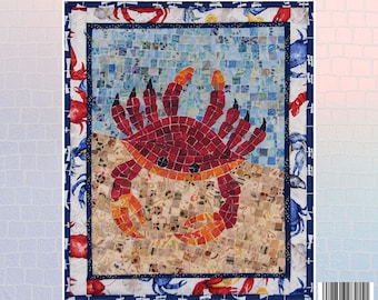 Salty Crab Mosaic - Mini Mosaic Quilts From Oy Vey Quilt Designs By Cheryl Lynch - MM415 - DIY Pattern