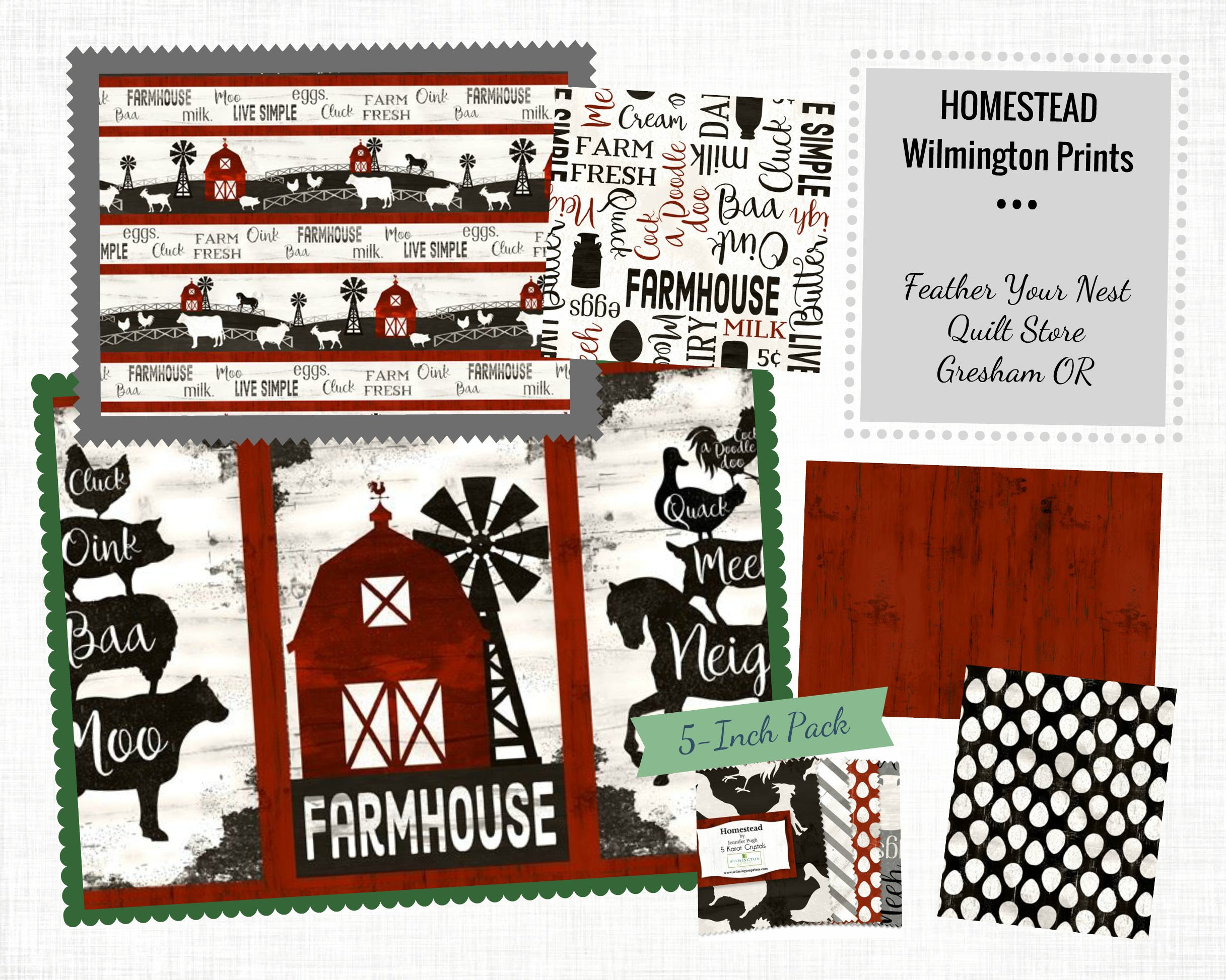 farm house fabric barn animal homestead by jennifer pugh for wilmington prints 82534 193. Black Bedroom Furniture Sets. Home Design Ideas