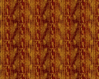 Floral Stripe Fabric - Metallic Stripe Fabric - Dreamscape - In The Beginning Jason Yenter 6JYD Red - Priced by the 1/2 yard