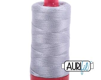 Aurifil 12wt Thread - Cotton Embroidery & Quilting Thread 12 wt - 100% cotton - Gray Mist 2606