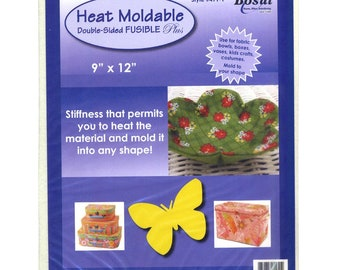 Bosal Heat Moldable Interface -  Double Sided Fusible - Bosal 491 White, 9-Inch x 12-Inch, by the Each - Pattern sold separately