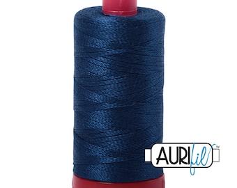 Aurifil 12wt Thread - Cotton Embroidery & Quilting Thread 12 wt - 100% cotton - Dark Blue Delft 2783