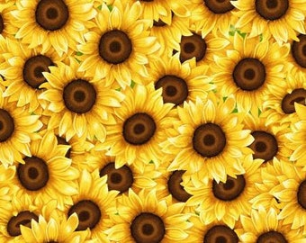 Packed Sunflowers - Sunny Sunflowers collection Sharla Fults for Studio E - 5570 44 Yellow - Priced by the 1/2 yard