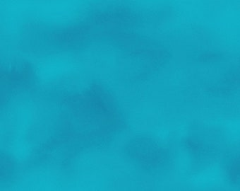 Blue Solid Marbled Fabric - QuiltLandia by Kathleen Deggendorfer Maywood Studio - MAS 9206-B Turquoise Blue - Priced by the half yard