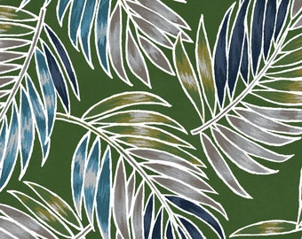 Tossed Palm Leaves - Turtle Bay Maywood Studio MAS 9521 G - Green - Priced by the half yard
