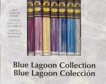 DMC Blue Lagoon Embroidery Thread Set - 8-color Variations Collections