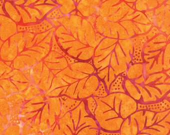 Orange Batik Fabric - Catalina Batik for Moda Fabrics - Sunrise 4329 11 - Priced by the 1/2 yard
