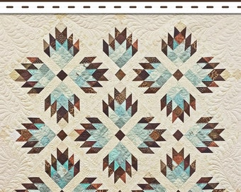 Double Bear Paw Quilt Pattern MGF 32 - Material Girlfriends - DIY Pattern - 4 Sizes (Wall, Lap, Twin, King)