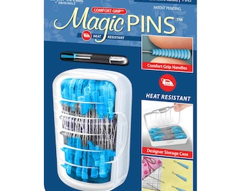 Quilting Pins - Magic Grip, Heat Resistant, Comfort Grip - 1-3/4-inch Regular .6mm x 48mm 50ct  - Taylor Seville 17153
