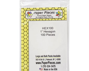 English Paper Piecing - One Inch Hexagon - Small Pack 100 count paper forms