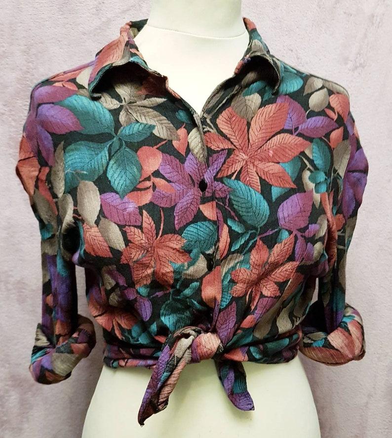 vintage 80s blouse