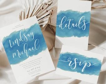 Wedding Invitation • Template • Watercolor