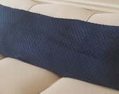 Full Body Pillow Cover in Shannon Minky Cuddle Dimple Dot with Hidden Zipper