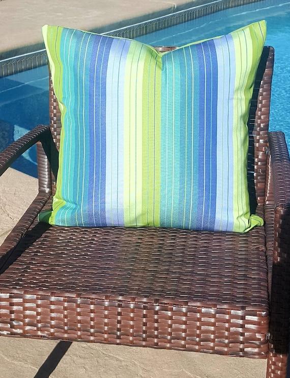 Sunbrella Stripe Seville Seaside Indoor Outdoor Decorative Etsy