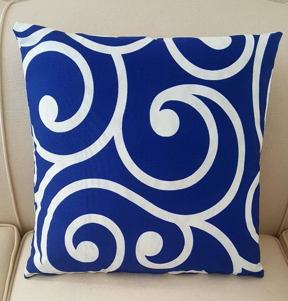 Richloom Solarium Best Cobalt Scroll Print Outdoor Designer Etsy