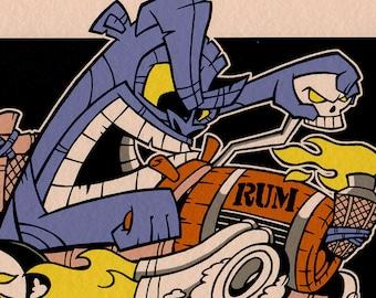 """Rum Runner - Signed 8""""x10"""" Art Print by Rob Kramer"""
