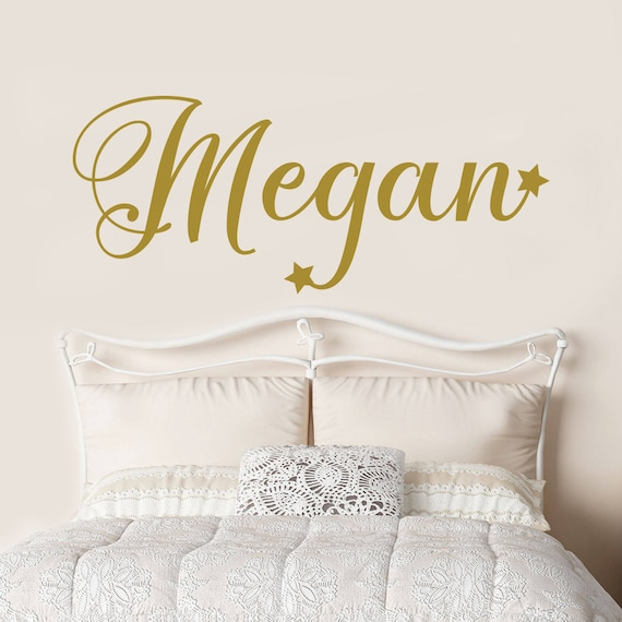 Name Wall Decal - Girl Nursery Decal - Girls Bedroom Decor - Gold Decor -  Custom Vinyl Name Decal - Gold Name - Nursery Wall Decals DM106