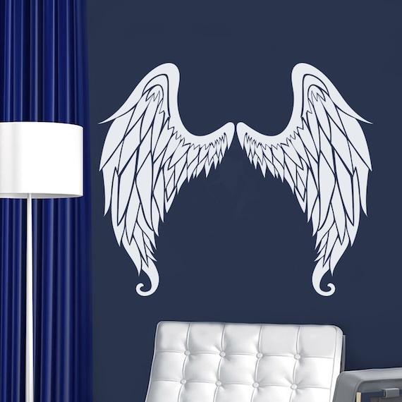 angel wings wall decal wings sticker vinyl sticker angel | etsy