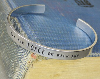 May The Force Be With You Bangle in Aluminum, Brass, or Copper