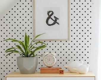 Small Polka Dots Peel & Stick Fabric Wallpaper Repositionable