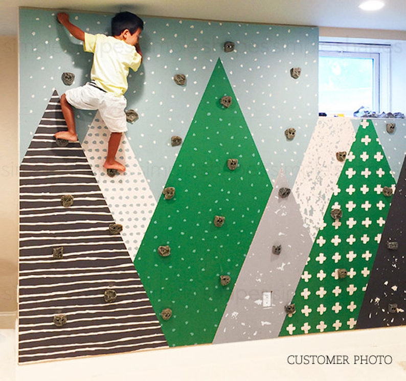 Kids Mountains Green Mountains Extra Large Wall Art Peel and SAMPLE 4X8 inches