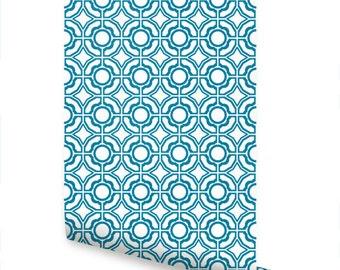 Daisy Peacock Peel & Stick Fabric Wallpaper Repositionable