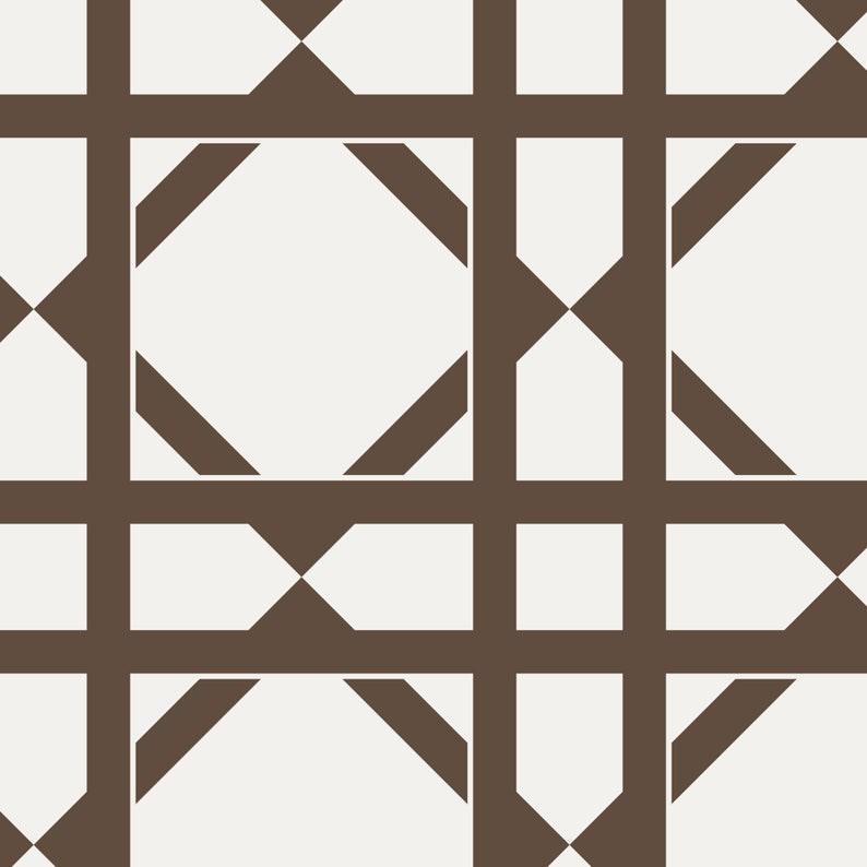 Geometric Brown Peel /& Stick Fabric Wallpaper Repositionable