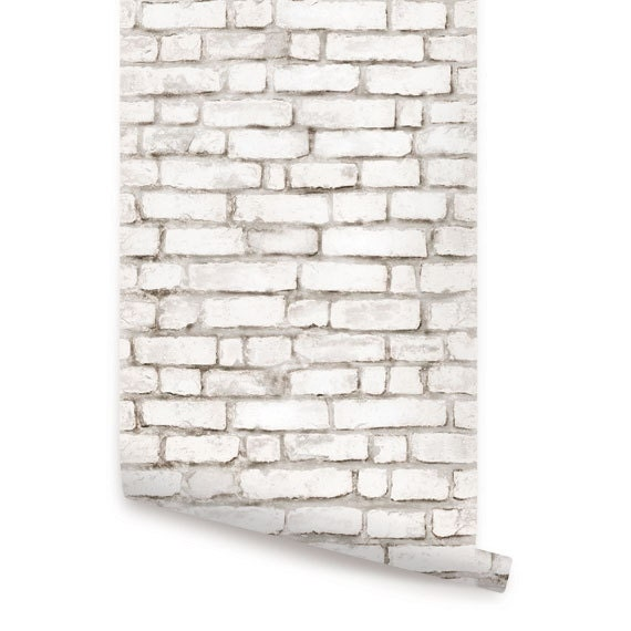 red and white brick wallpaper