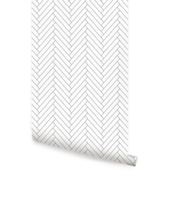 Horizontal Bold Pink Peel /& Stick Fabric Wallpaper Repositionable