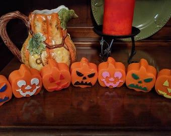 Pumpkin Wax Melts, includes 2 pumpkins