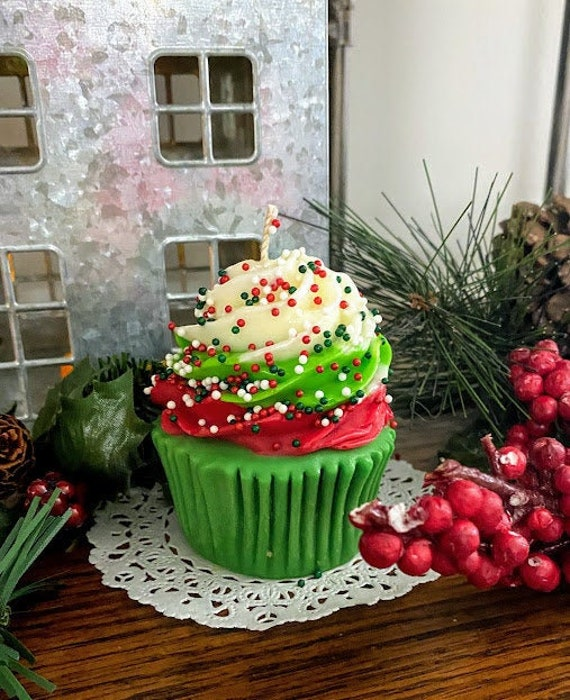 Christmas Cupcake Candles That Look Good Enough To Eat Etsy