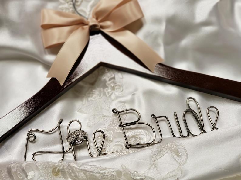439196f54 Bride hanger Wedding dress hanger Rustic wedding Rustic