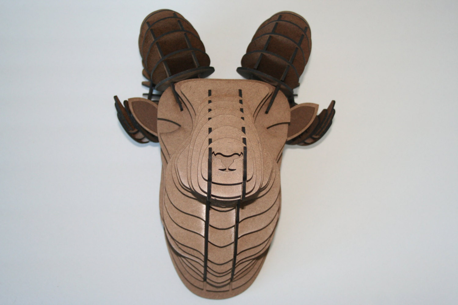 Large Wood Ram Head Wall Trophy Large