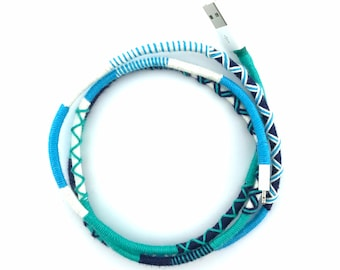 Wrapped USB Charger for Iphone 5, Iphone 6 and Ipad, Iphone Lightning Cable, Wrapped USB Charger, Colorful USB Charger, Iphone 6 Accessories