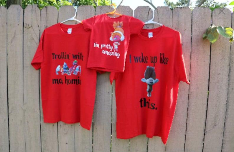 ad5582491 Troll shirt Disney Shirt Birthday shirts Family birthday | Etsy