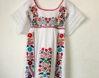 a633caef1c Mexican embroidered dress   Etsy