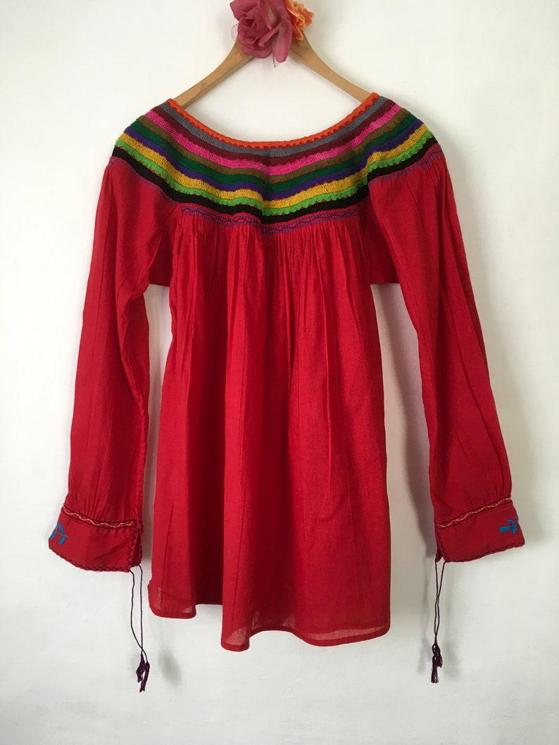 cb79094bf314e Blouse Mexican Chiapas Mexican Blouse Embroidered Shirt