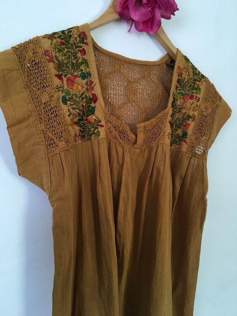 34b618c871 Blusa bordada Mexicana top Oaxaca blusa artesanal para