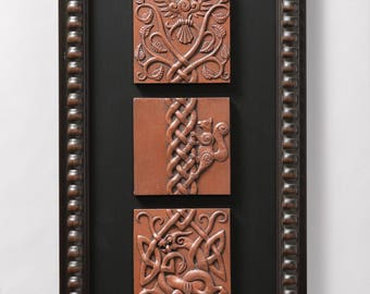 Ratatosk (Copper) Limited edition of 50 signed/numbered, framed sculptural reliefs by Aric Jorn.