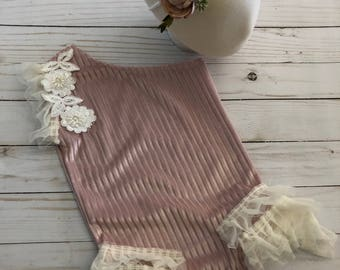 1777c3cd1a3 NEW release Caroline sitter romper lace ivory and blush romper set sitter  session limited time pre order FREE shipping newborn photoprop