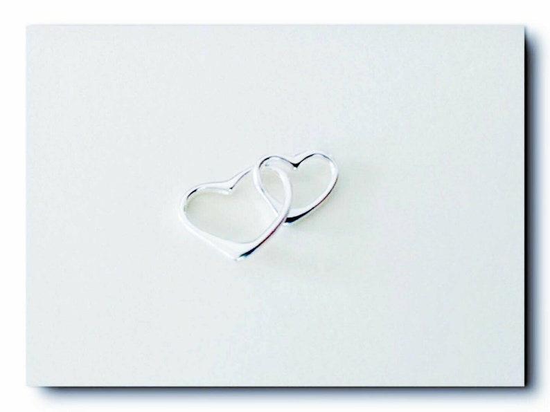 8ff6ce304bb Interlocking Heart Charms. Double heart Charms. Interlocked   Etsy