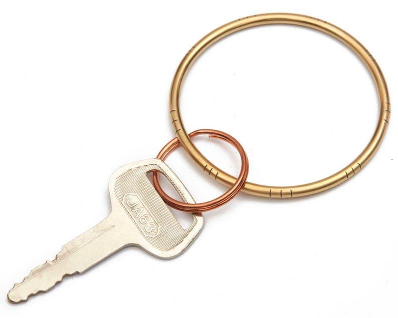 Hoop key chain Metal hoop keychain Big hoop for keys Hoop  e93444c3ad