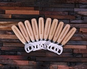 Personalized Wood Beer Bottle Opener - Engraved and Monogrammed , Nifty Groomsmen Gift (024237)